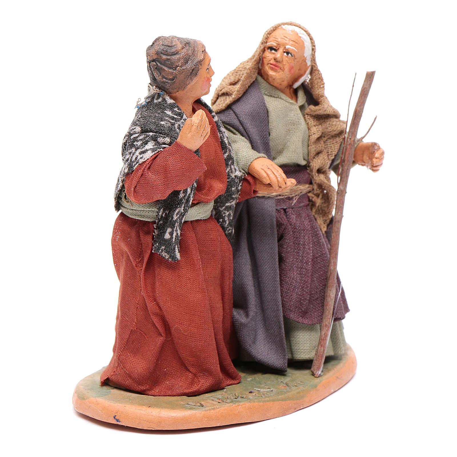 Femmes main dans la main 10 cm santons crèche napolitaine 4