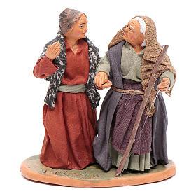 Femmes main dans la main 10 cm santons crèche napolitaine s1