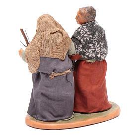 Femmes main dans la main 10 cm santons crèche napolitaine s3