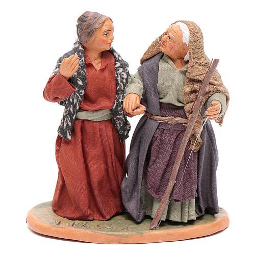 Femmes main dans la main 10 cm santons crèche napolitaine 1