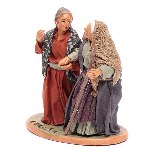 Femmes main dans la main 10 cm santons crèche napolitaine 2