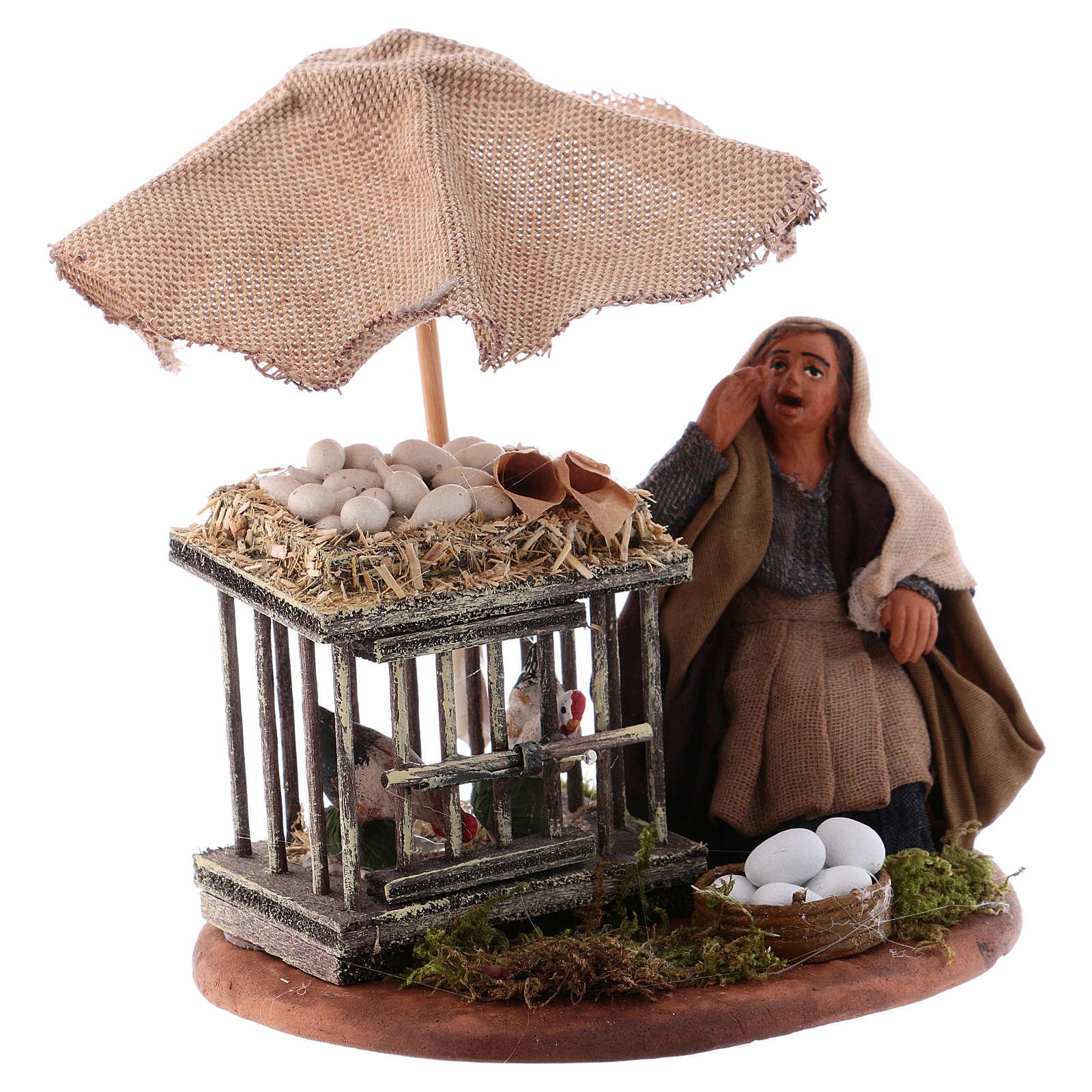 Woman with eggs sitting, Neapolitan Nativity 10cm 4