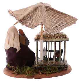 Woman with eggs sitting, Neapolitan Nativity 10cm s4