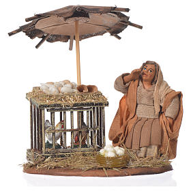 Mujer sentada con huevos 10 cm Belén Napolitano s1