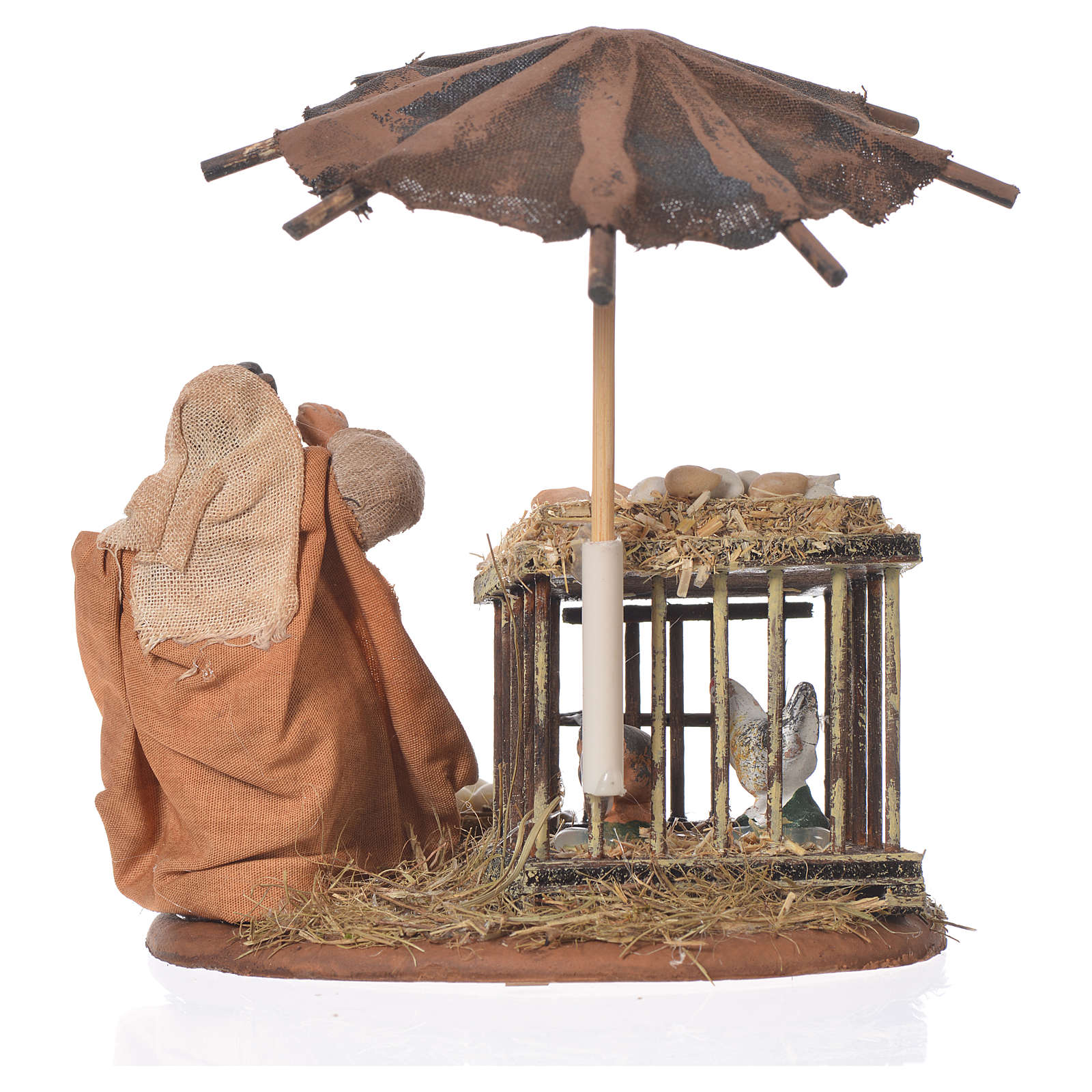 Femme assise avec oeufs 10 cm santon crèche napolitaine 4