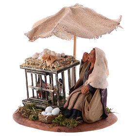 Woman with eggs sitting, Neapolitan Nativity 10cm s2
