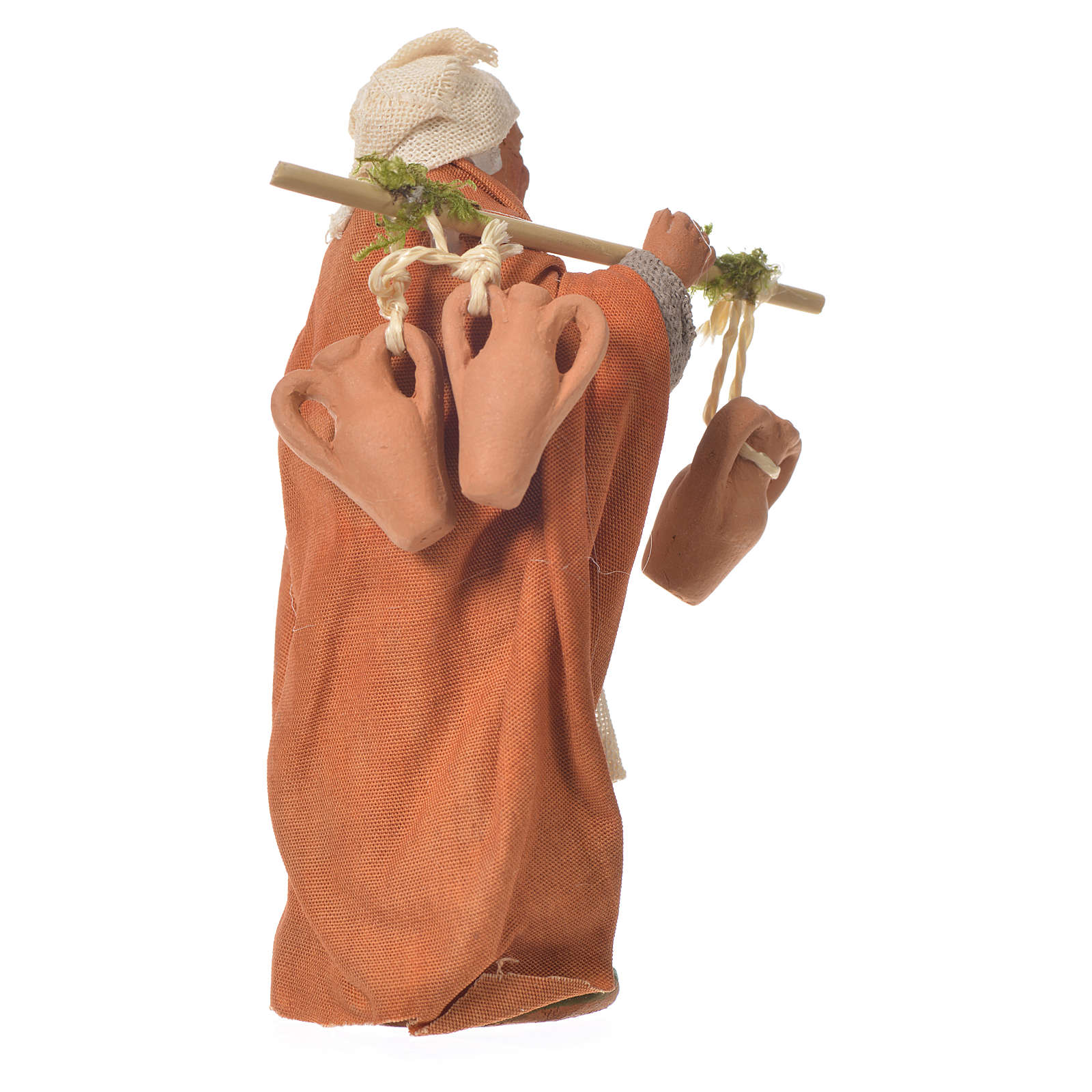 Passant avec amphores 10 cm santon crèche napolitaine 4