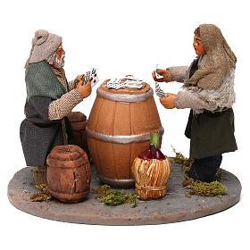 Neapolitan Nativity Scene: Standing men playing cards, Neapolitan Nativity 10cm