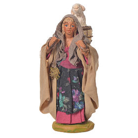 Woman with basket and sheep, Neapolitan Nativity 10cm s1
