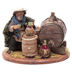 Drunkard with wooden cask, Neapolitan Nativity 10cm s1
