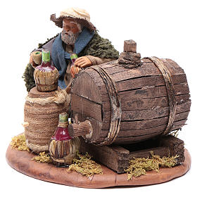 Drunkard with wooden cask, Neapolitan Nativity 10cm s2