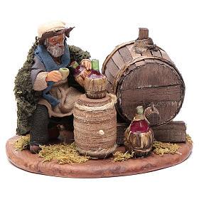 Drunkard with wooden cask, Neapolitan Nativity 10cm s3