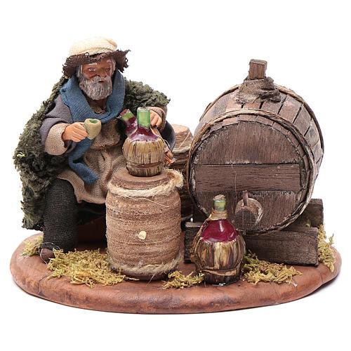 Drunkard with wooden cask, Neapolitan Nativity 10cm 1