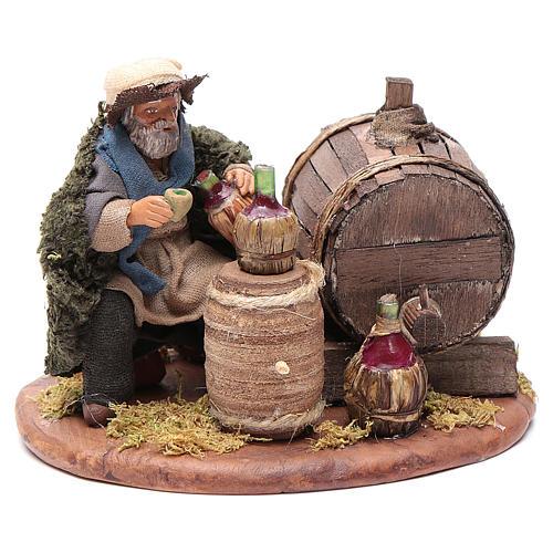 Drunkard with wooden cask, Neapolitan Nativity 10cm 3