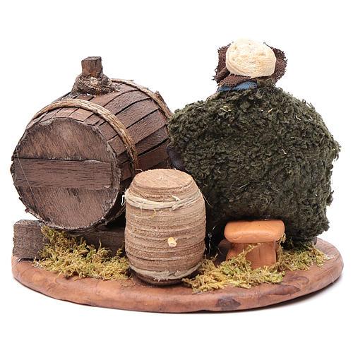 Borracho barriles madera 10 cm belén napolitano 4
