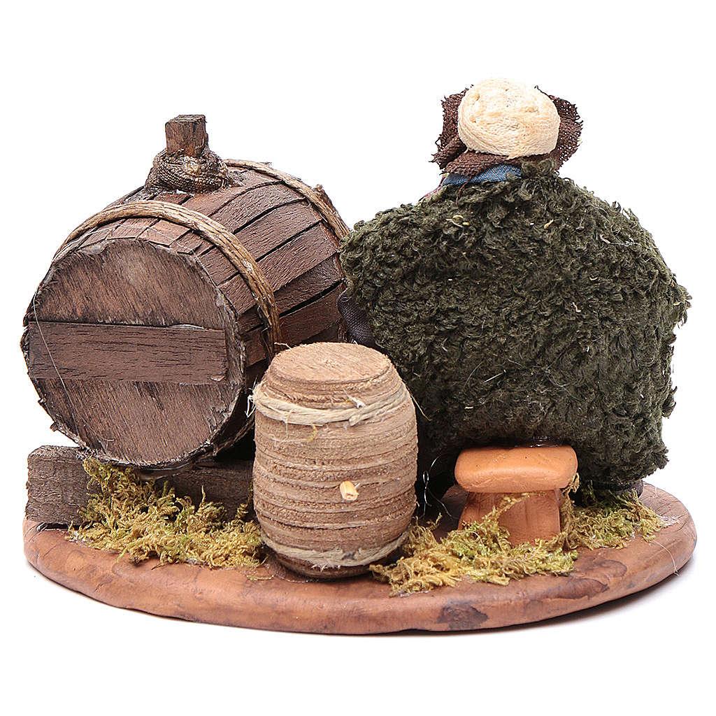 Beone botte legno 10 cm presepe napoletano 4
