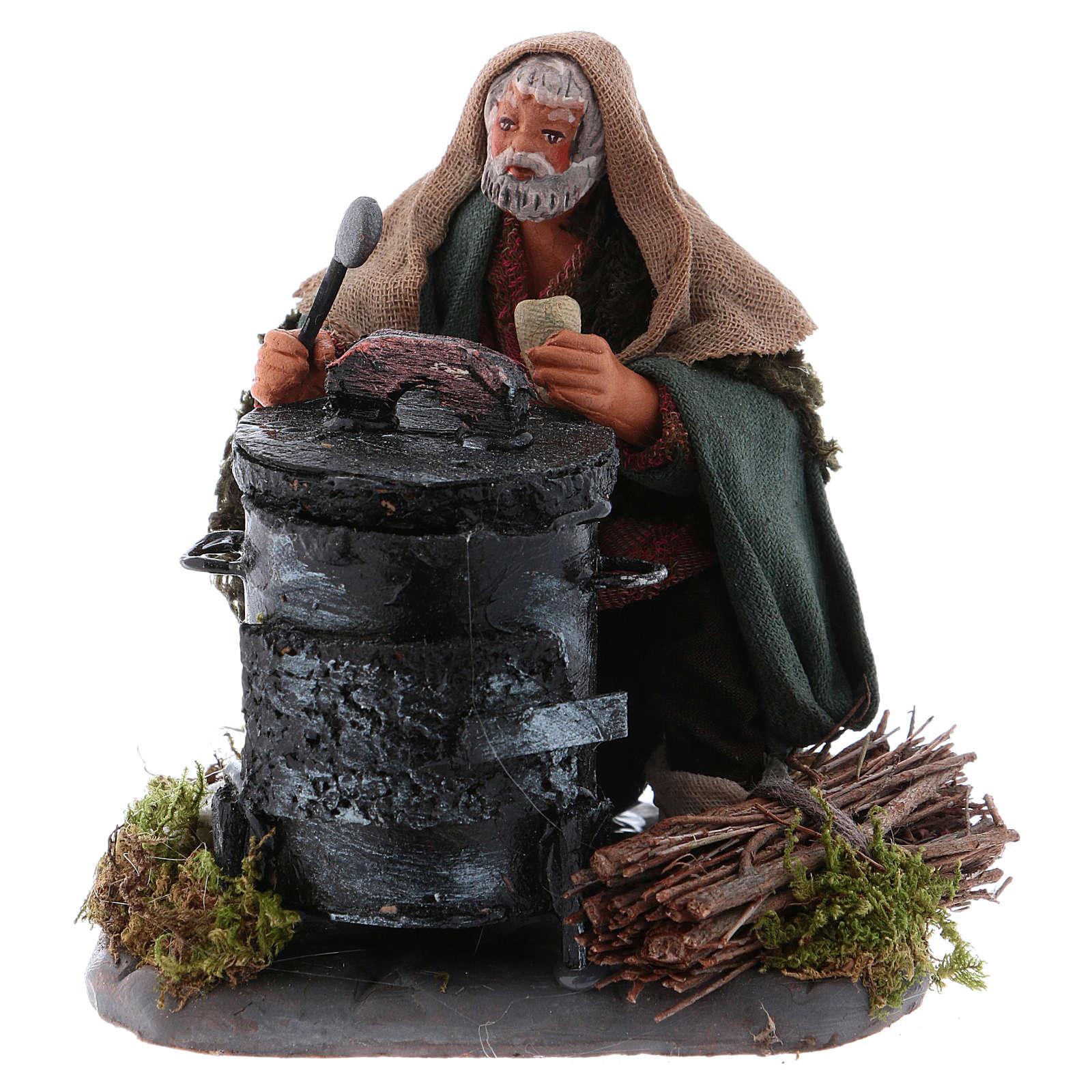 Chestnut seller with fire, Neapolitan Nativity 10cm 4