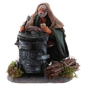 Neapolitan Nativity Scene: Chestnut seller with fire, Neapolitan Nativity 10cm
