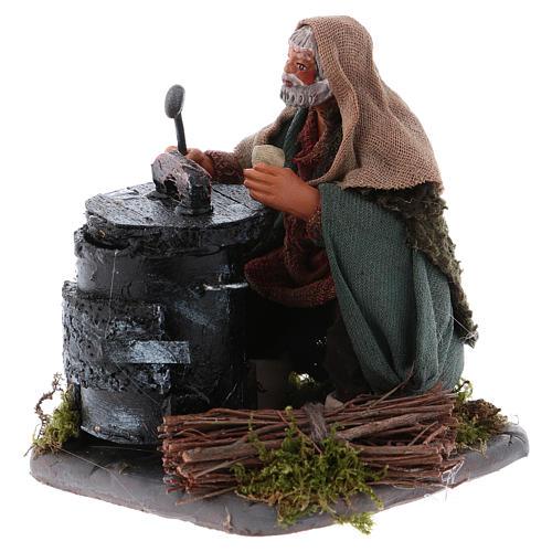 Chestnut seller with fire, Neapolitan Nativity 10cm 2