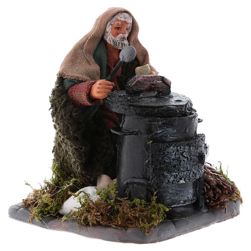 Chestnut seller with fire, Neapolitan Nativity 10cm 3