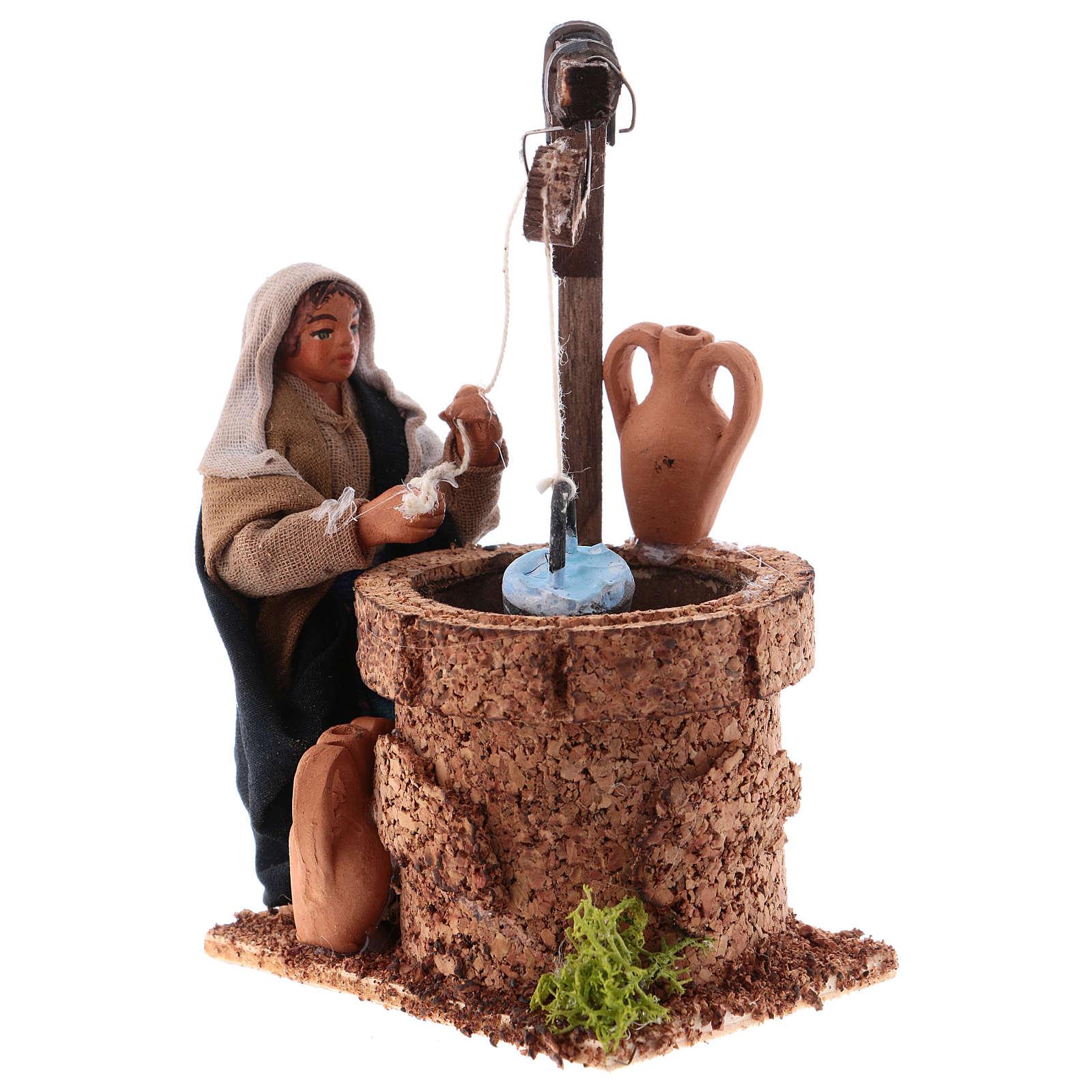 Mujer al pozo 10 cm belén napolitano 4