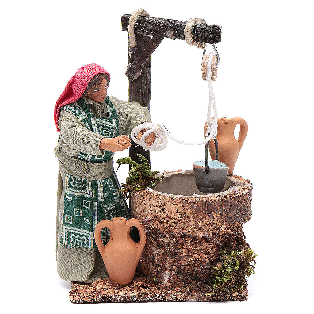 Woman at the well, Neapolitan Nativity 10cm 4