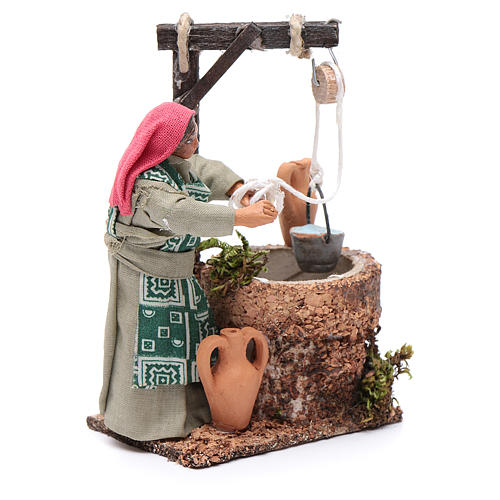 Woman at the well, Neapolitan Nativity 10cm 3