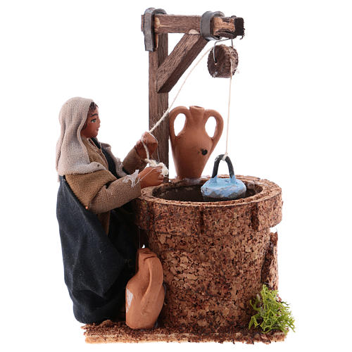 Woman at the well, Neapolitan Nativity 10cm 1