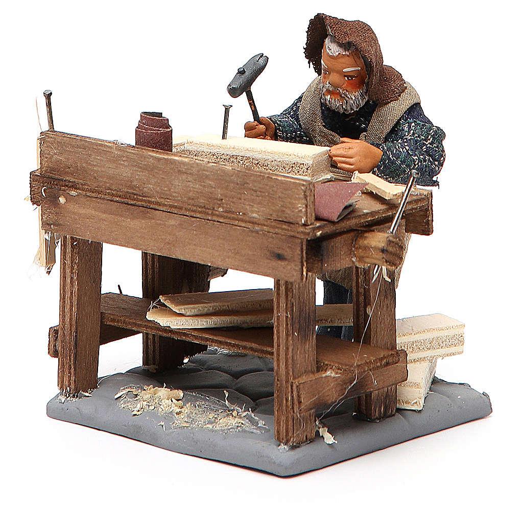 Carpenter with workbench, Neapolitan Nativity 10cm 4