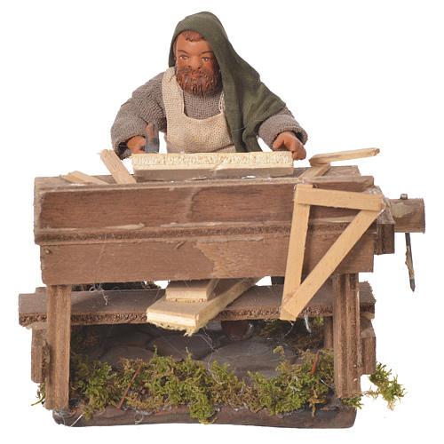 Carpenter with workbench, Neapolitan Nativity 10cm 5
