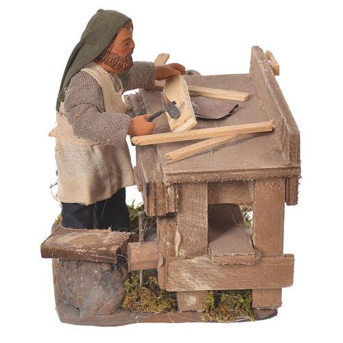 Carpenter with workbench, Neapolitan Nativity 10cm 6