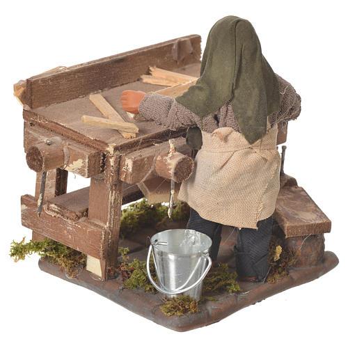 Carpenter with workbench, Neapolitan Nativity 10cm 7