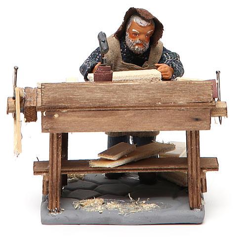 Carpenter with workbench, Neapolitan Nativity 10cm 8