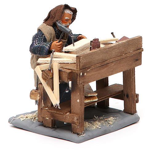 Carpenter with workbench, Neapolitan Nativity 10cm 11