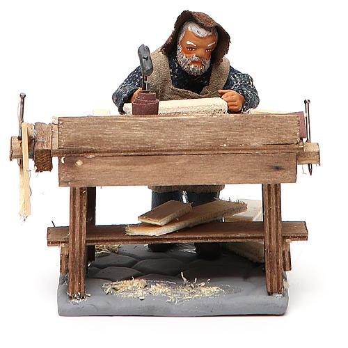 Carpenter with workbench, Neapolitan Nativity 10cm 1