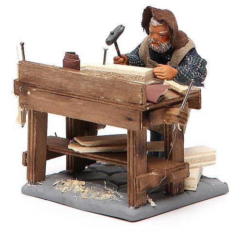 Carpenter with workbench, Neapolitan Nativity 10cm 2