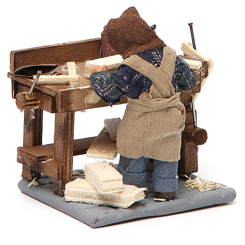 Carpenter with workbench, Neapolitan Nativity 10cm 3