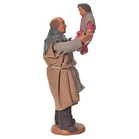 Homme soulevant un enfant 10 cm crèche napolitaine s1