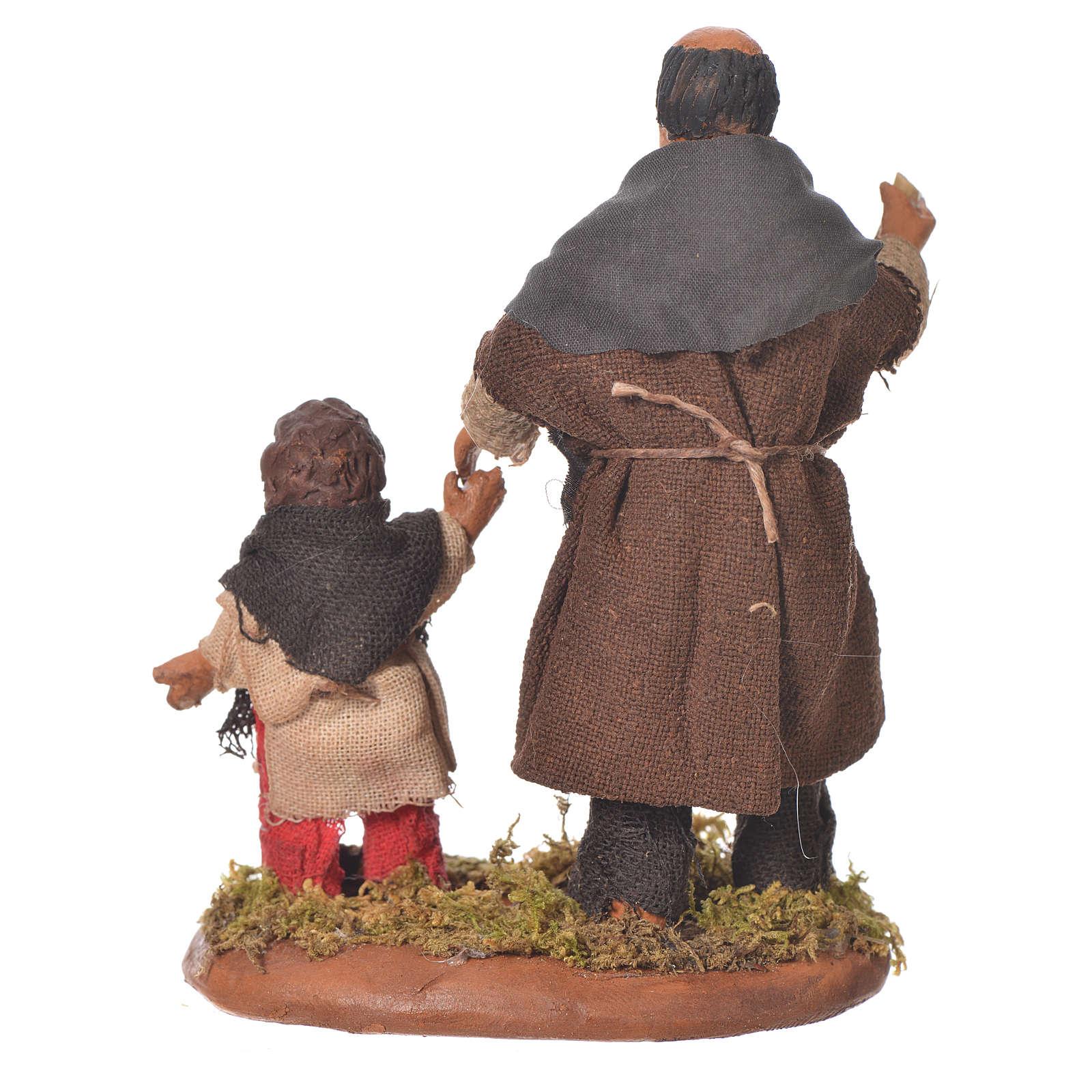 Homme et enfant main dans la main 10 cm crèche Naples 4
