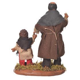 Homme et enfant main dans la main 10 cm crèche Naples s2