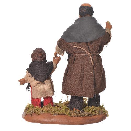Homme et enfant main dans la main 10 cm crèche Naples 2