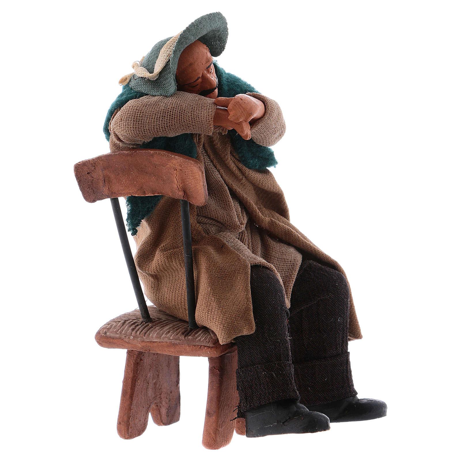 Borracho duerme sentado en la silla 12 cm de altura media belén Nápoles 4