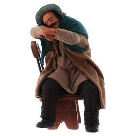 Borracho duerme sentado en la silla 12 cm de altura media belén Nápoles s1
