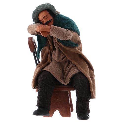 Borracho duerme sentado en la silla 12 cm de altura media belén Nápoles 1
