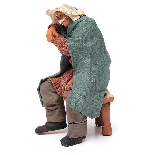 Ubriaco dorme su sedia 12 cm presepe Napoli 2