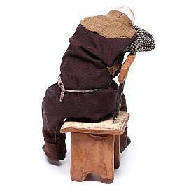 Bêbado adormecido na cadeira para presépio napolitano com figuras de 12 cm  de altura média s5
