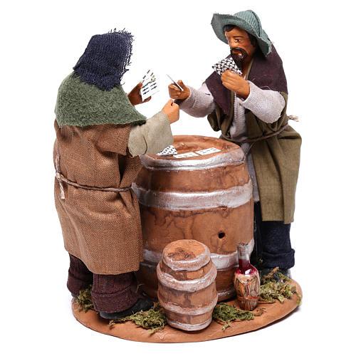 Jugadores de cartas con barril 12 cm Belén Napolitano 4