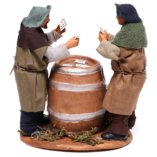 Card players with cask, Neapolitan Nativity 12cm 5