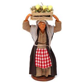 Donna con cassetta di pulcini 12 cm presepe Napoli s1