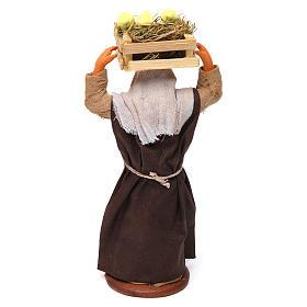 Donna con cassetta di pulcini 12 cm presepe Napoli s4